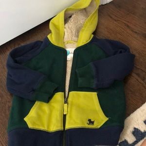 Mini Boden lined hooded sweatshirt excellent cond